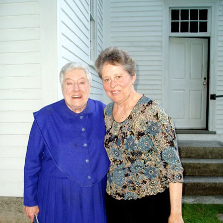 Sister Frances Carr and Julia Adams of the Portland String Quartet