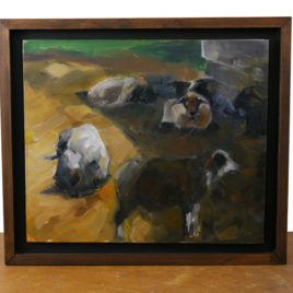 "Tim Reimensnyder ""Dark Sheep"" Oil Painting"