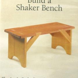 Chris Becksvoort Build a Shaker Bench DVD