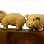 Chuck Perry Carved Pig Sculpture