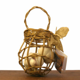 Carolyn Kemp Handwoven Garlic Keeper Basket