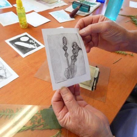 Gel Printing Workshop at Shaker Village
