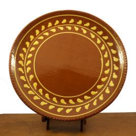 Redware Laurel Platter by Henderson's Redware