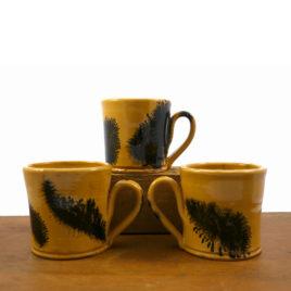 Yellow Ware Mochawear Mug by Henderson's Redware