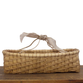 Walnut Stained Twill Bread Basket