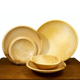 """Brother Delmer"" Maple Hand Turned Bowls"