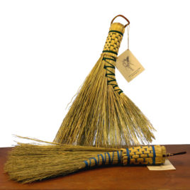 Handmade Plaited Turkey Wing Broom
