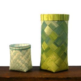 Watercolor Paper Baskets by Carolyn Kemp