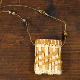 Birch Bark Mini Necklace Basket by Carolyn Kemp