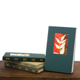 Hardcover Handmade Blank Book with Shaker Botanical Monoprint