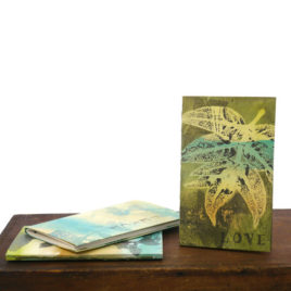 Softcover Handmade Blank Book with Shaker Botanical Monoprint