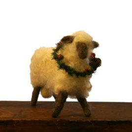 Large Felted Ram Sculpture