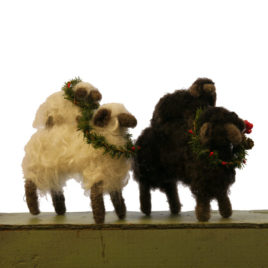Felted Ewe and Lamb Sculpture
