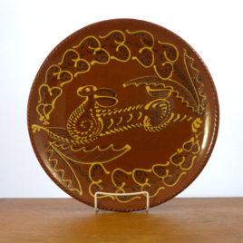 Redware Running Hare Plate