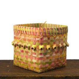 Watercolor Paper Fancy Basket by Carolyn Kemp