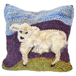 Rug Hooking Workshop: Woolly Sheep Pillow by Parris House Wool Works at Shaker Village