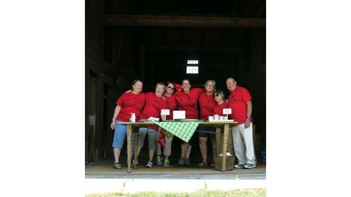 Farm to Fork Fondo Maine- Shaker Village Aid Station