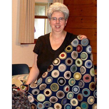 Penny Rug in the Shaker Spirit Workshop at Shaker Village