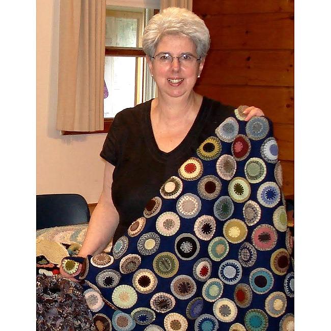 penny rugs in the shaker spirit workshop