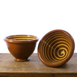 Redware Spiral Pottery Bowl, Henderson's Redware, Shaker Village