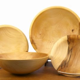 Hand-Turned Maple Bowls from Shaker Trees