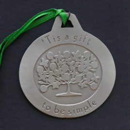 Simple Gifts lead-free pewter ornament