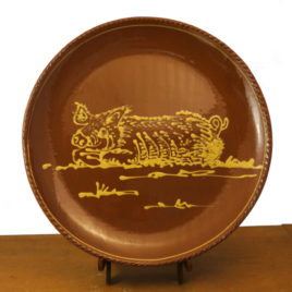 Redware Pig Plate