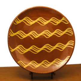 Redware Plate Knotty Waves